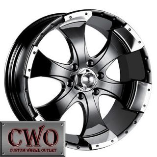 18 Black ION 179 Wheels Rims 5x139.7 5 Lug Dodge Ram Dakota Durango