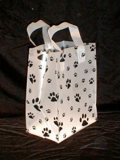 Gift Party Shopping Bags Dogs Cats Paw Prints (25) New