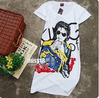 Michael Jackson history Billie Jean Grammy Lady T Shirt Slim style