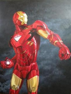 Oil Painting Iron Man Avengers Stark Original COMIC ART by J