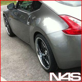 BRAND NEW 19 NISSAN 350Z VERTINI DRIFT BLACK STAGGERED WHEELS RIMS