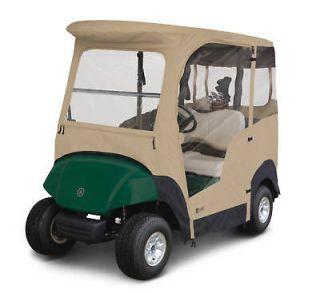 Yamaha Drive Golf Cart Premium Full Cab Enclosure Sand