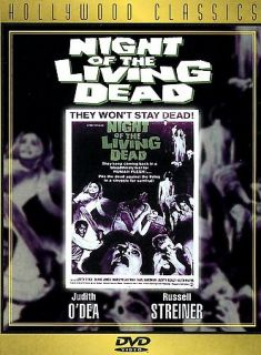 Night of the Living Dead DVD, 1998, Hollywood Classics