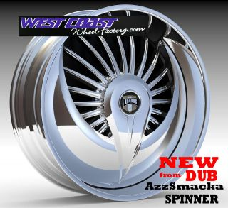 DUB Spinner 24 WHEEL Set SKIRTZ Spinners NEW DUB AzzSmacka Spin