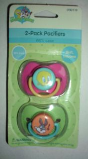 PACK LOONEY TUNES TWEETY BUGS BUNNY PACIFIERS WITH CASE NIP