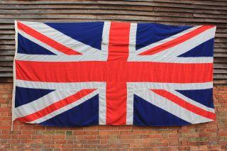 Antique Vintage Massive British Appliqué Stitched Union Jack Flag 141