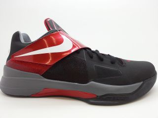 ] Mens Nike Zoom KD IV Kevin Durant Black Varsity Red White Sneakers