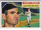 1955 TOPPS BASEBALL DUSTY RHODES 1 NEW YORK GIANTS RARE CARD