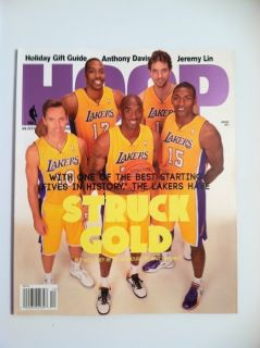 HOOP MAGAZINE LA LAKERS DWIGHT HOWARD KOBE BRYANT STEVE NASH NO LABEL