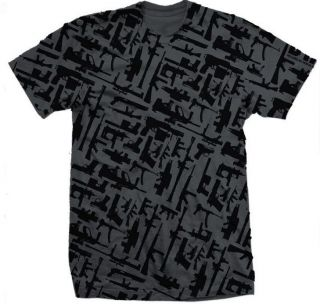 DTA ROGUE STATUS Gunshow 2.0 Charcoal/Black Mens Skateboard T Shirt