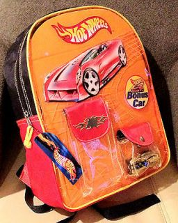 RARE HOT WHEELS BACKPACK W SEALED XS IVE CAR NEW WITH TAG NWT LONG