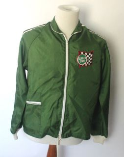 Vintage 70s Quakerstate Racing Nylon Windbreaker Jacket 44 Chest
