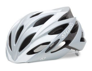 Giro Savant White/Silver Road Bike Helmet Size Medium