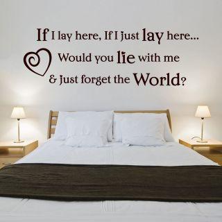 Snow Patrol, Lyrics, Wall Art, If I Lay Here Sticker   Q3