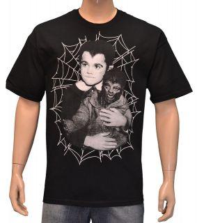 Eddie Munsters Wolfman Black Mens T shirt By Rock Rebel