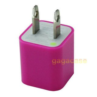 Pink Wall Power Adapter Home Charger iPhone 3G 3GS 4 4S iPod Touch