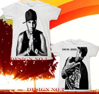 Young Jeezy Hip Hop Wiz Khalifa Rap Lil Wayne Rapper T SHIRT Sz.S,M,L