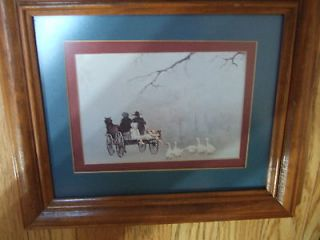 HOME INTERIOR GEESE CHASING THE HORSE & WAGEN