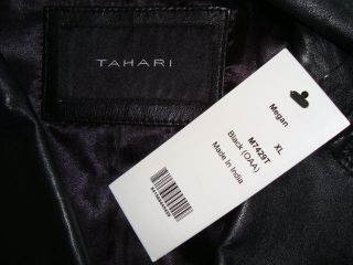 NWT TAHARI *MEGAN* Genuine Soft Lamb Leather Coat Jacket Sz XL