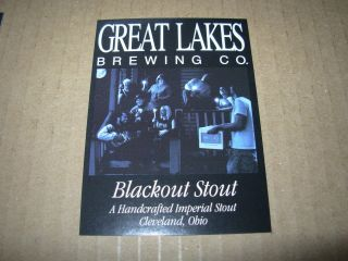 GREAT LAKES BREWING promo BLACKOUT STOUT STICKER craft beer brewery