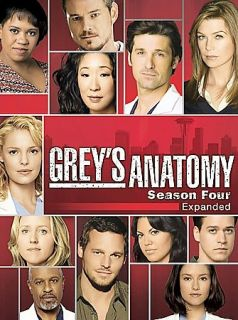 Greys Anatomy   The Complete Fourth Season DVD, 2008, 5 Disc Set