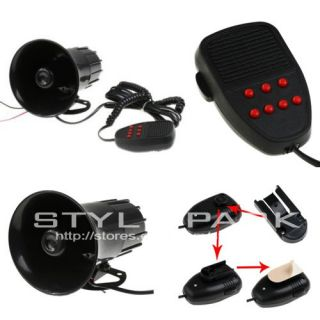 12V 50W Loud Horn for Car Van Truck Motorcycle with 7 Sounds PA System