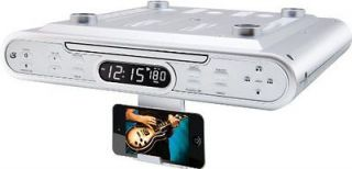 Counter Cabinet Mount CD Player AM/FM Radio Music Audio System KC232s