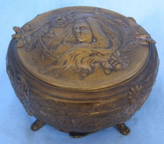 Robinet Art Nouveau French Bronze Box By Barbedienne