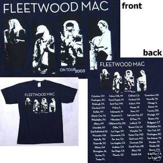 FLEETWOOD MAC BAND PICS 2003 TOUR BLUE T SHIRT LARGE NEW