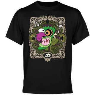 Courage the Cowardly Dog Eustace Border T Shirt   Black