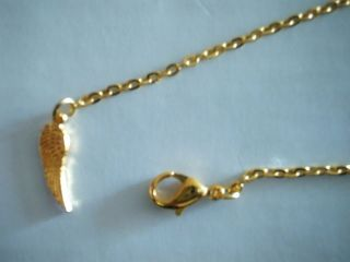 GOLD COLOUR ANKLE CHAIN WITH DAINTY ANGEL WING CHARM*CHOICE OF SIZE