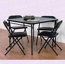 Newly listed Mainstays 5 Piece Card Folding Table and Chair Set, Black