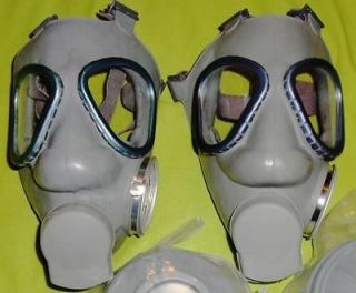 New M9 Style Military Gas Masks & 2 SEALED 60mm NBC Filters (Size