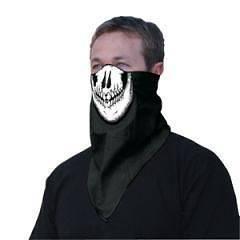 Motorcycle Biker, Ski Mobile Neoprene & Bandanna Face Mask   The Skull