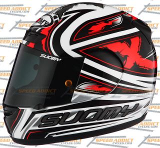Suomy Apex Spec 1R Steely Red Full Face Motorcycle Helmet Medium