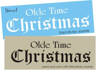 Vintage font STENCIL Olde Time Christmas Old English Primitive Holiday