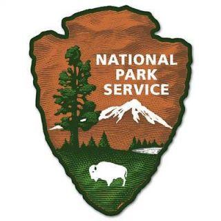 National Park Service car bumper sticker decal 4 x 5