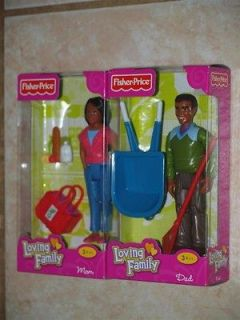 Loving Family African American MOM & DAD Dollhouse Dolls People NEW