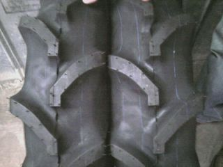 TWO 8x16 R1 Bar Lug Terramite Backhoe KUBOTA L3350 Tractor Tires