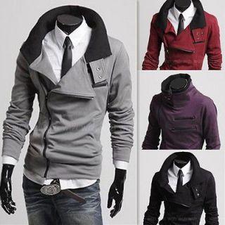 Fashion Korean Mens Long Sleeve Slim Fit Jacket/Coat/Sweatshirt/Top