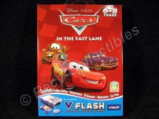 VFlash Disney Cars In The Fast Lane Math Disc VTech 6 8