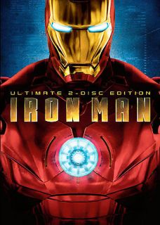 Iron Man DVD, 2008, 2 Disc Set, Ultimate Edition