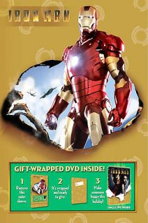 Iron Man DVD, 2008, Wrapped and Ready Edition Sensormatic Packaging