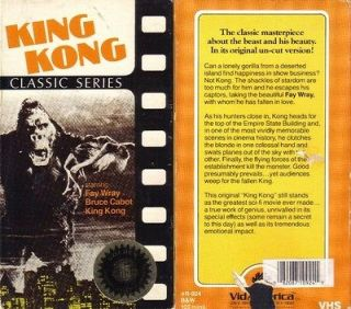 VHS 60th. ANN. KING KONGFAY WRAY BRUCE CABOT