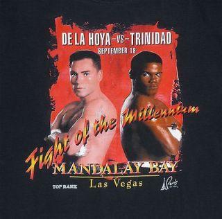 OSCAR DE LA HOYA vs FELIX TRINIDAD Sept 1999 black Las Vegas boxing