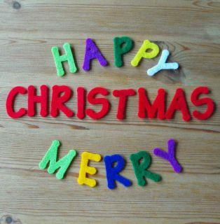 Felt Die Cuts   Happy/Merry Christmas   Sentiment   Applique