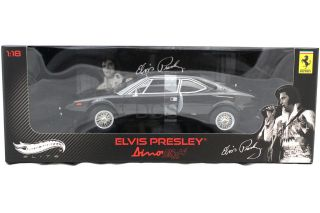 HOT WHEELS ELITE STARS FERRARI DINO 308 GT4 ELVIS PRESLEY BLACK 1/18