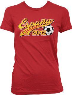 Champs 2012 Juniors Girls T Shirt Spain Football World Cup FIFA Torres
