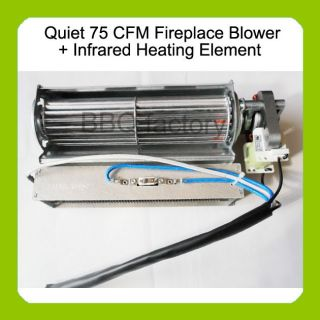 Electric Fireplace Blower Fan Infrared Heating Element for Heat Surge