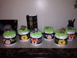 Safari Jungle Diaper Cake Minis, Custom / Baby Shower Gifts